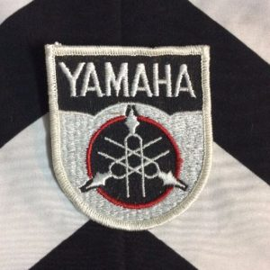 *Deadstock Yamaha Symbol White, Black, Red Patch *old stock 1