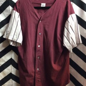 SS BD Jersey Style Cotton Pin Striped Sleeves Tasmanian Devil Graphic 1
