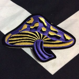 PATCH- PSYCH MUSHROOM Purple and Yellow 1