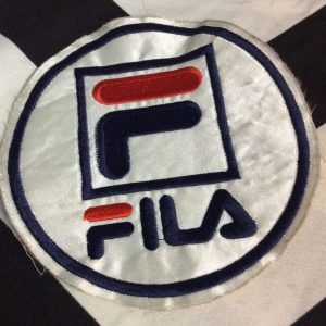 PATCH Round FILA Red White Navy 1