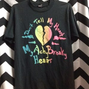 TSHIRT My Achy Breaky Heart Broken Heart Graphic 1
