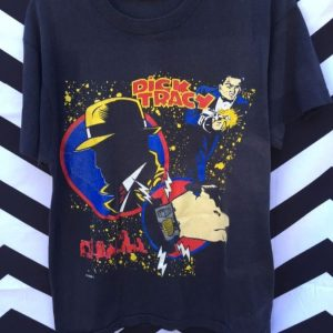 VINTAGE TSHIRT DICK TRACEY GRAPHIC DISNEY ISSUED 1