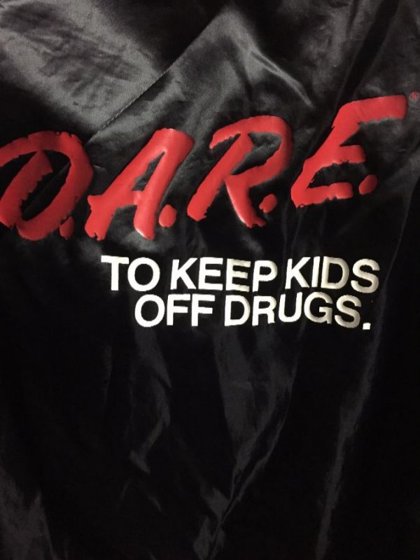 DARE Satin Zip-up jacket w/ Eightball patch on front #irony 3