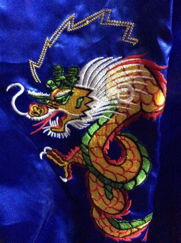Thin Satin Zip upFar East Tour Souvenir Jacket Okinawa Japan 5