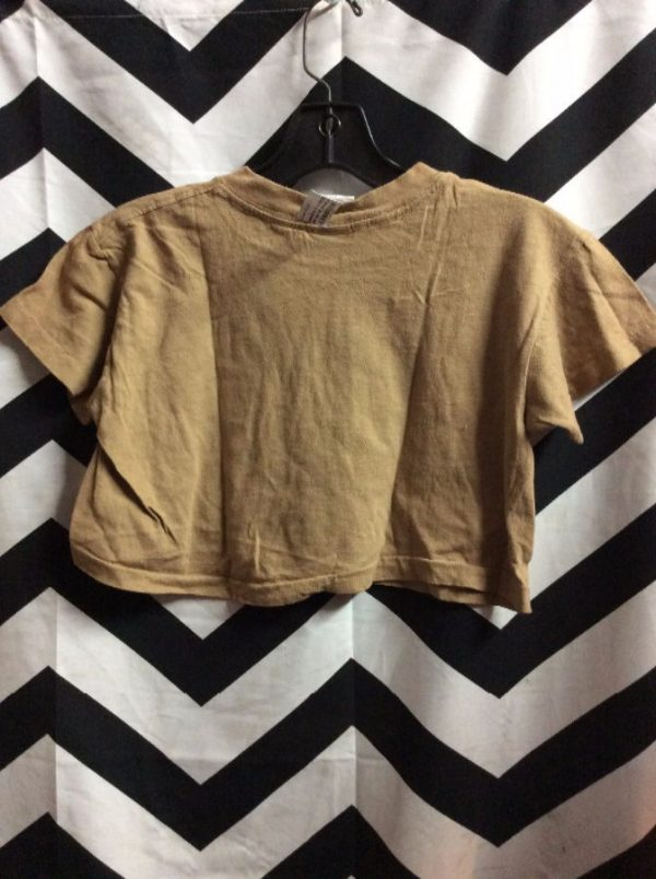 *deadstock 90s COTTON CROP TOP CAMP BEVERLY HILLS 1977 TAN M 2