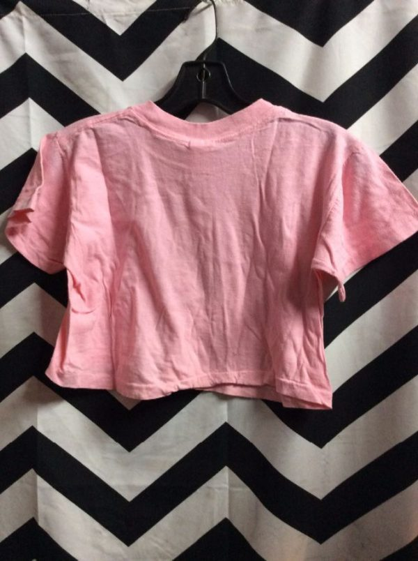 *deadstock 90s COTTON CROP TOP CAMP BEVERLY HILLS 1977 PINK 2