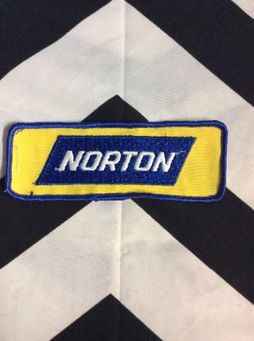 *Deadstock Larger NORTON LOGO Rectangle Patch *old stock 1
