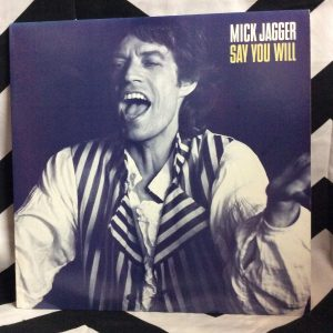 VINYL MICK JAGGER SAY YOU WILL SINGLE 1