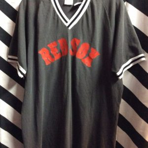 Vintage Boston Red Sox T-shirt #12 Mens Large Ringer Tee 1980s Made in USA 50/50 1