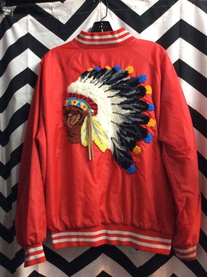Baseball Jacket Style w/ Custom Native American Chef Patch 1