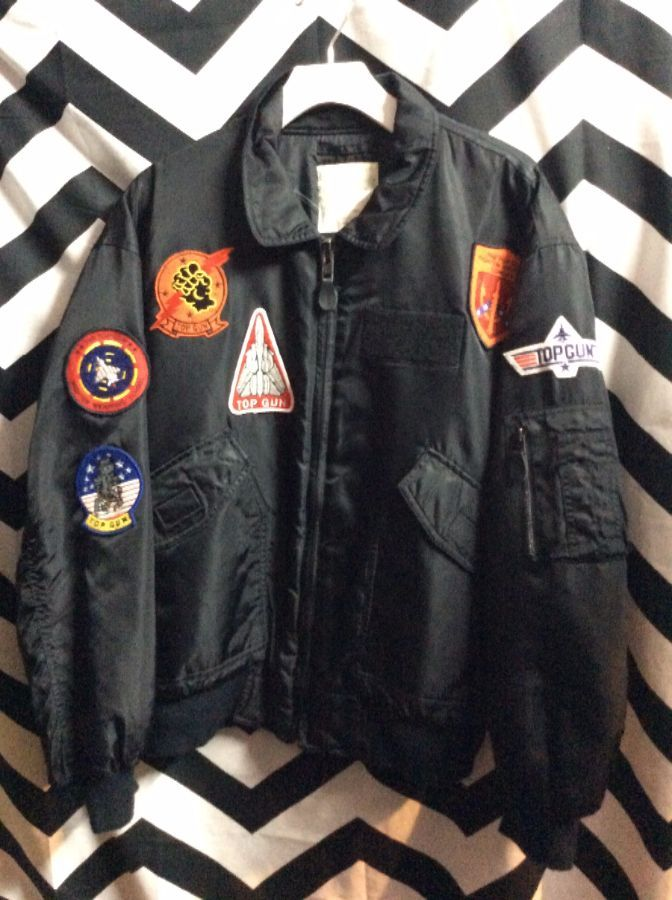 TOP GUN BOMBER JACKET W/ MULTI PATCHES 1