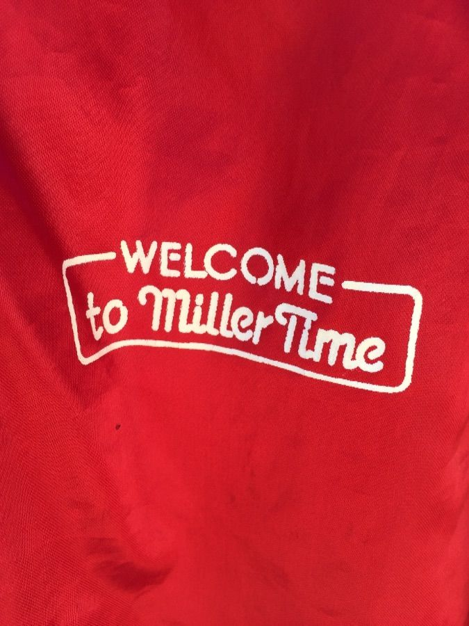 SATIN JACKET RETRO MILLER HIGH LIFE FRONT AND BACK GRAPHIC 3