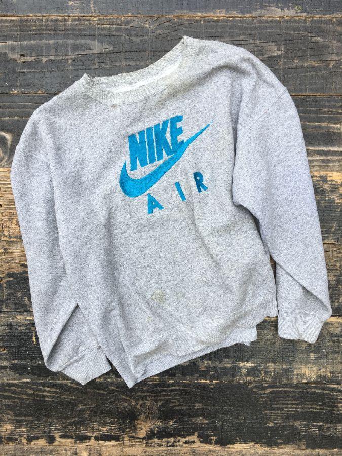 Embroidered Nike Wgray Logo Pullover Air TagBoardwalk Sweatshirt QoeErCdBWx