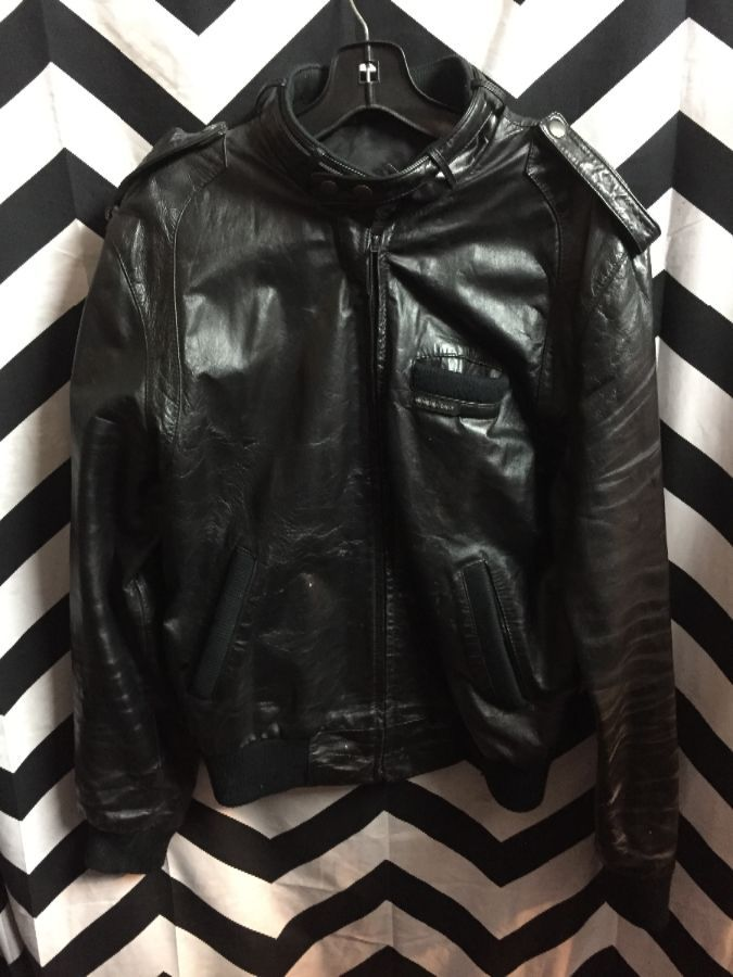 Leather Members Only jacket as-is 1