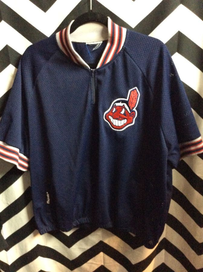 MLB CLEVELAND INDIANS WARMUP PULLOVER 1