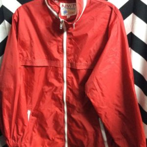 Retro Red colorblock windbreaker 1
