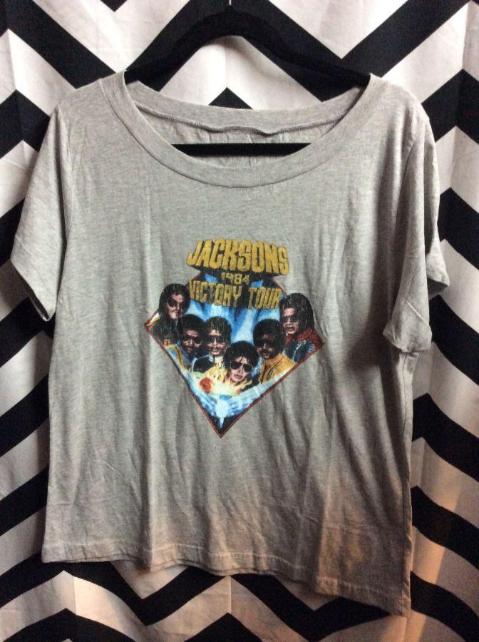 b62315eac70 JACKSONS 1984 VICTORY TOUR T-SHIRT