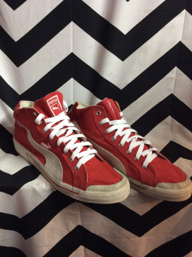 PUMA LACE UP MID TOP SHOES 1
