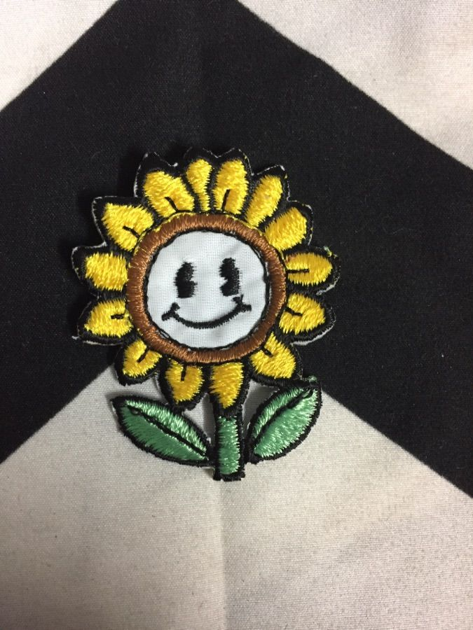 BW Patch- Flower with Face Yellow PatcH 1