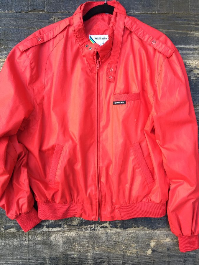 Vibrant Red Members Only jacket 1