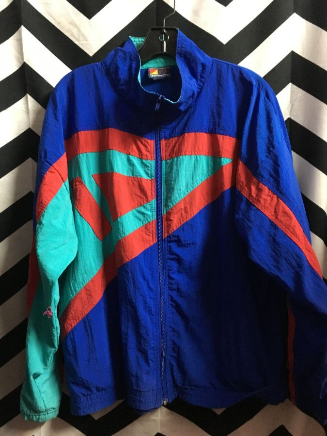 WINDBREAKER COLORBLOCK GEOMETRIC PATTERN 1