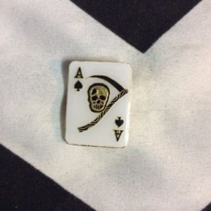 BW PIN - ACE OF SPADES CARD - SKULL & SICKLE 1