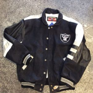 LA RAIDERS NFL TEAM ISSUED JACKET – LEATHER 1