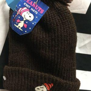 Deadstock Snoopy playing Hockey Knit Pom Pom beanie 1