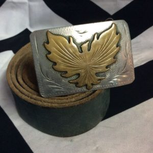 SUPER SOFT LEATHER BELT FIREBIRD BUCKLE 1