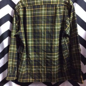 LS BD green wool flannel shirt as/is 1