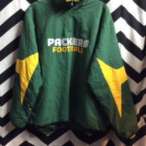 NFL Greenbay Packers windbreaker w/ neck zipper 1