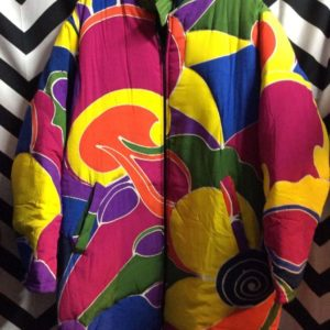 DEADSTOCK COLOR BLOCK PUFFY TRENCH as-is 1