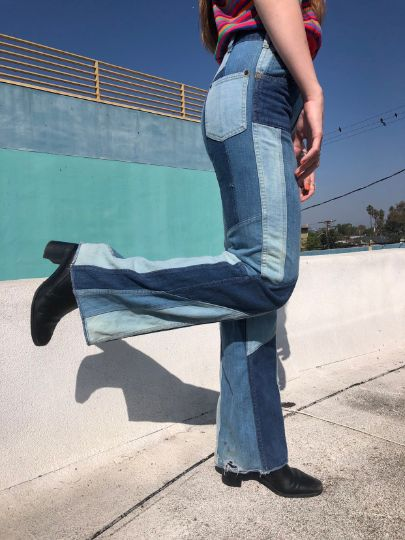 Vintage 1970's Jea and Sy Patchwork Jeans