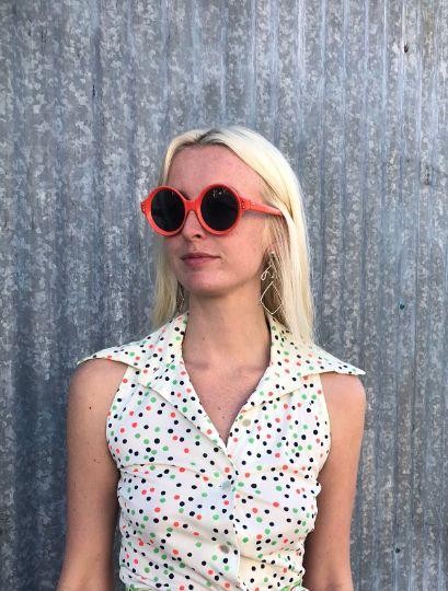 1960's Mod Neon Round Sunglasses