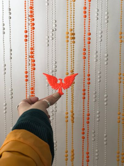 Vintage PRESIDENTIAL Eagle- Neon Orange