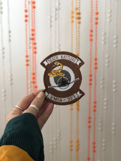 Vintage Military Patch- DEATH Rattlers VMFA-323