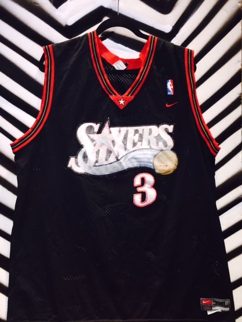 best website 5dc5a a58ea Sixers - Allen Iverson #3 BASKETBALL JERSEY
