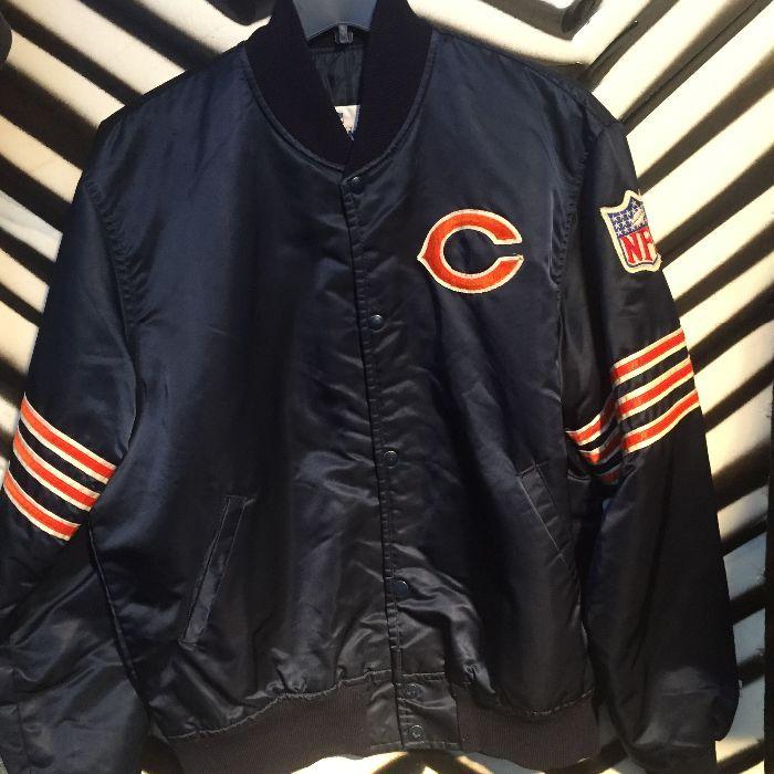 4a89f402 Chicago Bears Dark Blue Starter Jacket