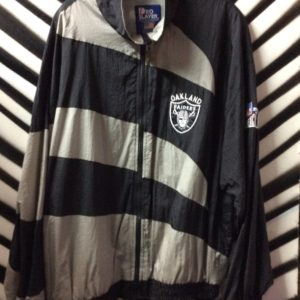 Black and Grey striped Raider jacket 1