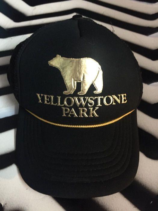 YELLOWSTONE PARK TRUCKER HAT - W SNAP BACK » Boardwalk Vintage 7959e4b8f4a2