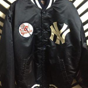 NY Yankees satin baseball jacket w/ patch 1