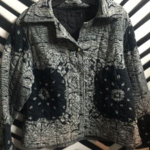 COTTON BANDANA PRINT JACKET 1
