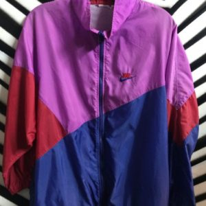 Nike Purple, Red and Blue Color Block Windbreaker 1