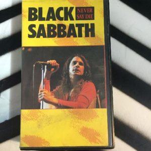 Black Sabbath Never Say Die Live 1978 VHS 1