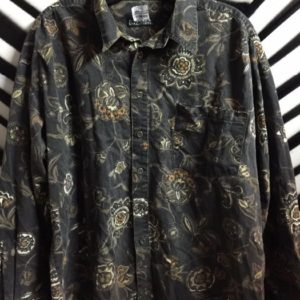 LS BD SUBDUED FLORAL & PAISLEY PRINT SHIRT 1