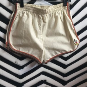 MICKEY MOUSE TAN STRIPED 80S SHORTS 1