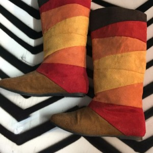 multi color tall boots red sz 7 1