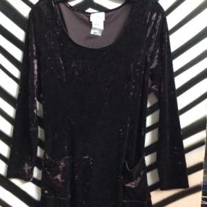 LS CRUSHED VELEVET DRESS 1990S 1