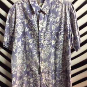 SS BD HAWAIIN SHIRT PALE BLUE FLORAL AS IS 1