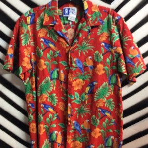 SS BD HAWAIIAN SHIRT PAROT JUNGLE PRINT 1